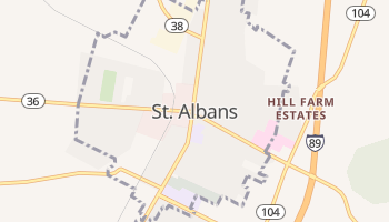 Saint Albans, Vermont map