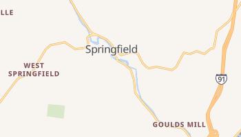 Springfield, Vermont map