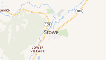 Stowe, Vermont map