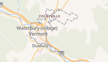 Waterbury, Vermont map