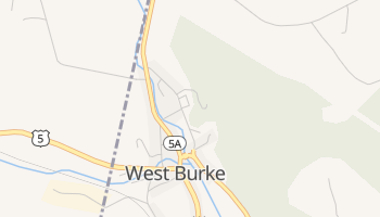 West Burke, Vermont map