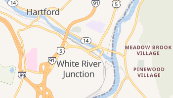 White River Junction, Vermont map