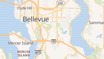 Bellevue, Washington map