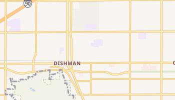 Dishman, Washington map