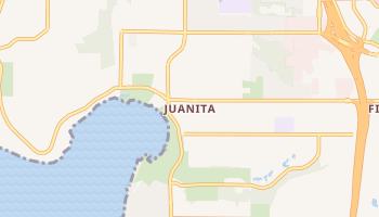 Juanita, Washington map