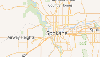 Spokane, Washington map