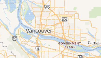 Vancouver, Washington map