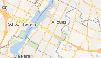 Allouez, Wisconsin map