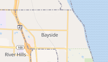 Bayside, Wisconsin map