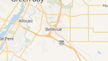 Bellevue, Wisconsin map