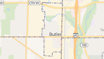 Butler, Wisconsin map
