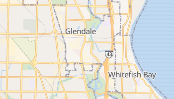 Glendale, Wisconsin map