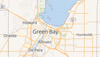 Green Bay, Wisconsin map
