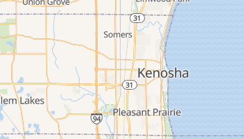 Kenosha, Wisconsin map