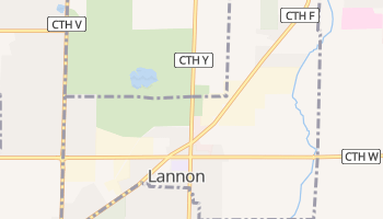 Lannon, Wisconsin map
