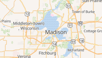 Madison, Wisconsin map