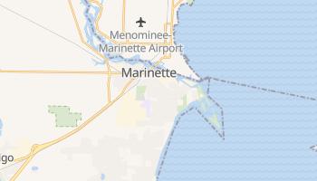 Marinette, Wisconsin map