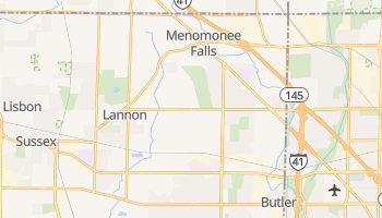 Menomonee Falls, Wisconsin map