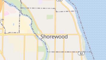 Shorewood, Wisconsin map