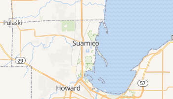 Suamico, Wisconsin map