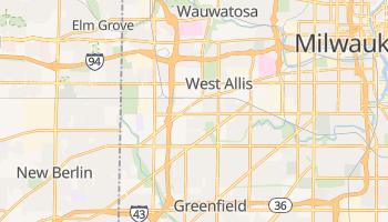 West Allis, Wisconsin map