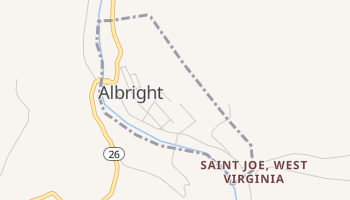 Albright, West Virginia map