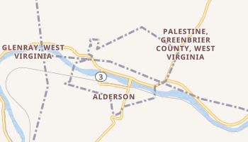 Alderson, West Virginia map