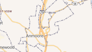 Anmoore, West Virginia map
