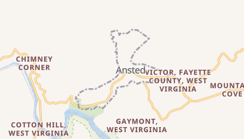 Ansted, West Virginia map