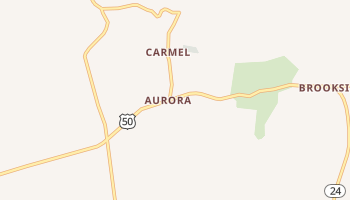 Aurora, West Virginia map