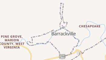 Barrackville, West Virginia map