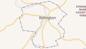 Belington, West Virginia map