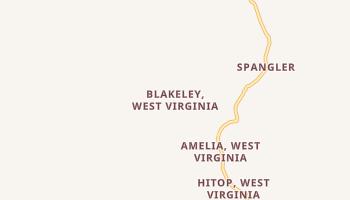 Blakeley, West Virginia map