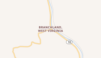 Branchland, West Virginia map