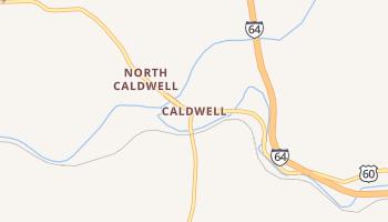 Caldwell, West Virginia map