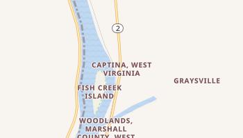 Captina, West Virginia map