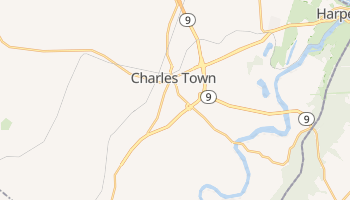 Charles Town, West Virginia map