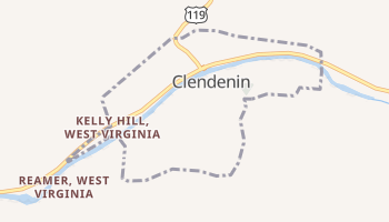 Clendenin, West Virginia map