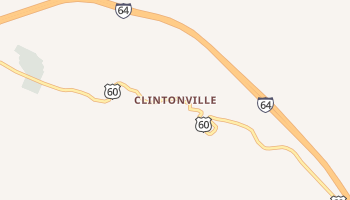 Clintonville, West Virginia map