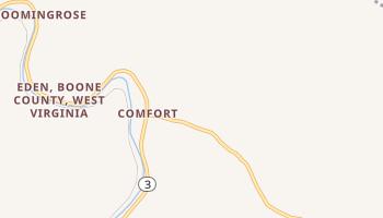 Comfort, West Virginia map