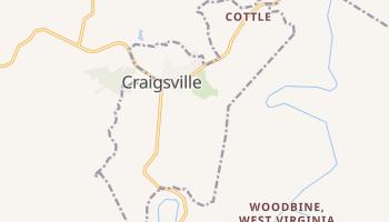 Craigsville, West Virginia map