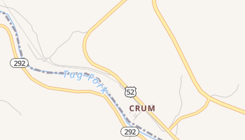 Crum, West Virginia map