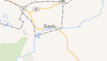 Davis, West Virginia map