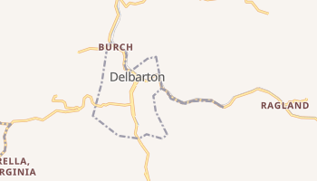 Delbarton, West Virginia map