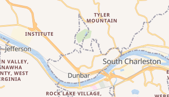 Dunbar, West Virginia map