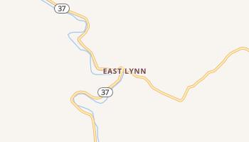 East Lynn, West Virginia map