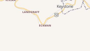 Eckman, West Virginia map