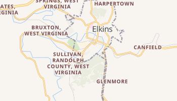 Elkins, West Virginia map