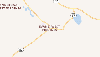 Evans, West Virginia map