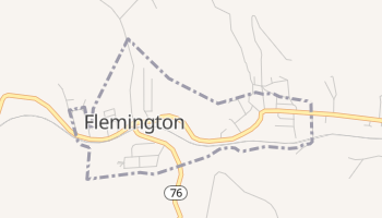 Flemington, West Virginia map